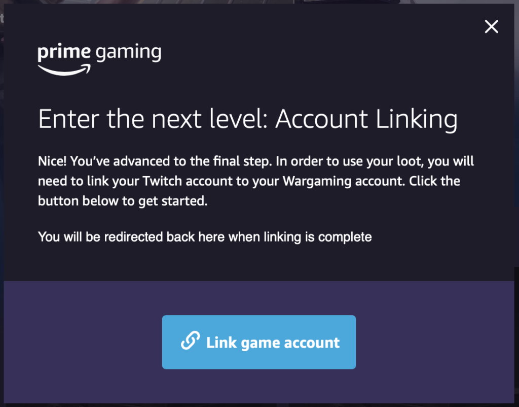 Связать аккаунт Amazon с аккаунтом игры