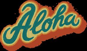 "Надпись ""Aloha"""